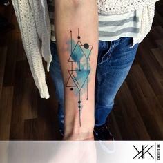 Blue Arm Geometry tattoo   Best Tattoo Ideas Gallery