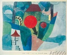 1919 Paul Klee 'Landschaft mit sinkender Sonne' [Landscape with Setting Sun]. Kandinsky, William Turner, Klimt, Abstract Pattern, Abstract Art, Abstract Paintings, Collages, Z Arts, Teaching Art