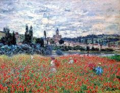Monet, Campo di papaveri a Vétheuil, 1880