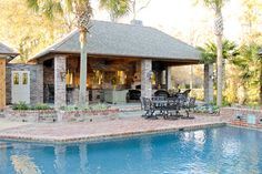 Lake At White Oak Outdoor Kitchen Traditional Pool New Orleans By Angelo S Lawn Scape Of La