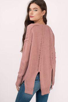 Sami Knitted Slit Sweater at Tobi.com #shoptobi