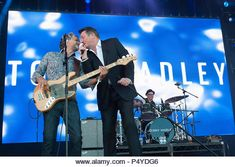 June Tony Hadley in concert at Lets Rock Scotland, Dalkeith Country Park, Edinburgh, Great Britain June 2018 Credit: Stuart Westwood/Alamy Live News - Stock Image Rewind Festival, Festival Hall, Festival 2016, Ballet Lifts, 23 Juni, Henley Festival, Gary Kemp, Martin Kemp, Edinburgh Uk