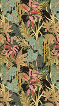 Flowers Illustration Tropical Print Patterns 18 Ideas For 2019 Jungle Pattern, Motif Jungle, Jungle Print, Surface Pattern Design, Pattern Art, Green Pattern, Floral Illustrations, Graphic Illustration, Pattern Vegetal