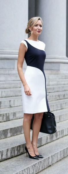 Büromode: elegantes Outfit im Business Formal Stil Nyc Fashion, Office Fashion, Work Fashion, Womens Fashion, Style Fashion, Fashion Moda, Curvy Fashion, Dress Fashion, Fall Fashion