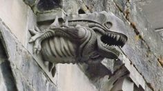Alien and science-fiction gargoyles sculpted on ancient churches around the world...