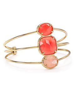 "kate spade new york Sun Kissed Sparkle Cuff | Imported | 2.25"" diameter; 1.5"" width 