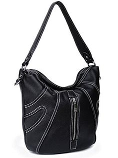 Delphina Fashion Tote Handbag Black *** Click image to review more details.