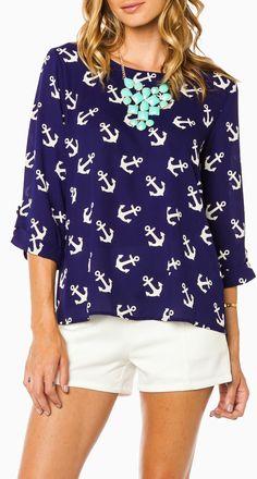 Anchor blouse