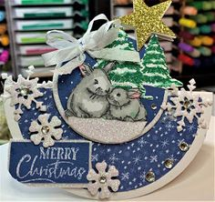 Crafty Maria's Stamping World: A Rocking Card for Baby's First Christmas - Try Stampin' on Tuesday #479 New Baby Cards, Snowflake Pattern, Babies First Christmas, Animal Cards, Pen And Paper, Having A Baby, How To Make Bows, I Card, Stamping