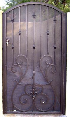 Wrought Iron Special - Exclusively by Olson Iron - Wrought Iron Designs for Residential and Commercial Businesses Wrought Iron Decor, Wrought Iron Fences, Iron Windows, Iron Doors, Iron Gate Design, Side Gates, Metal Gates, Garden Gates, Door Design