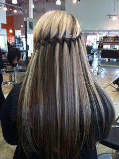 Waterfall Braid styled By Lauren Cazares @ The Paul Mitchell School Esani