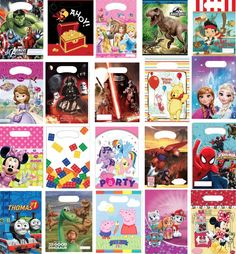 Packs of 6 & 8 childrens party loot bags #birthday disney #themes #girls boys par,  View more on the LINK: http://www.zeppy.io/product/gb/2/122143921422/