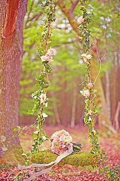 ❤ droomachtige tuin schommel.
