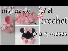 how to crochet toddler slippers Crochet Bebe, Baby Girl Crochet, Crochet Baby Clothes, Crochet For Kids, Crochet Hats, Disfraz Minnie Mouse, Mickey Minnie Mouse, Baby Patterns, Crochet Patterns