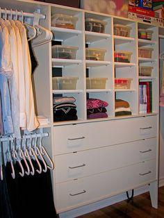 Love this closet organization.