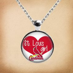 St. Louis Cardinal fans are the best in baseball! Show your Cardinals loyalty by wearing this unique necklace.    If you are interested in