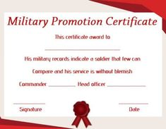 Promotion Certificate Template : Free Templates for Students, Employees & Army - Template Sumo Military Records, Warrant Officer, Certificate Templates, Appreciation, Promotion, Sumo, Students, Free