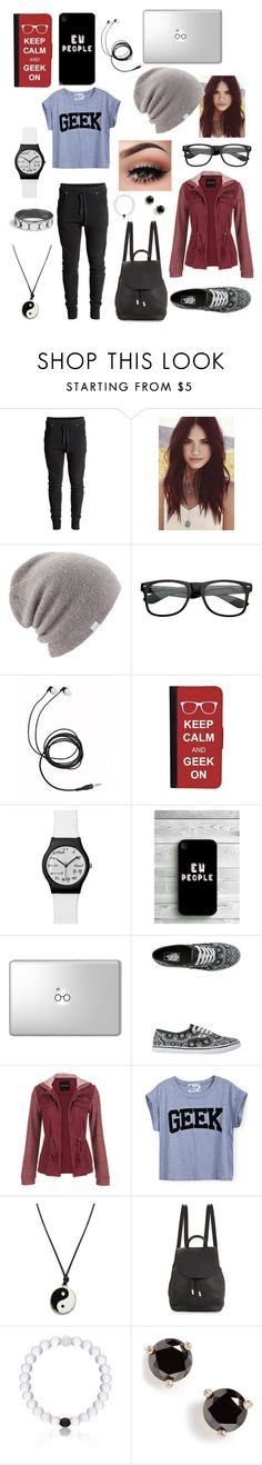 """Antisocial Geek aka Me"" by cjl22401 ❤ liked on Polyvore featuring Lulu*s, Coal, CellPowerCases, Vans, maurices, rag & bone, Everest and Kate Spade"