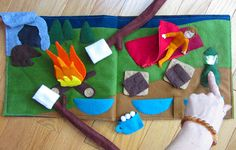 Camping Quiet Book Page - free pattern and giveaway!