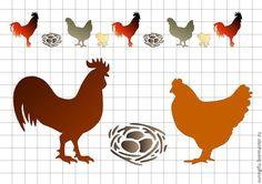 Купить Трафарет Петух курица гнездо А5 - трафарет, трафареты, узор, узоры, трафаретный рисунок