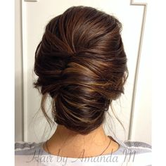 Wedding Hairstyles Medium Hair Smooth French twist updo on brown hair - The showcase of 25 fabulous French twist updos. The best-looking hairstyles with French twists ranging from classical and vintage ones, to modern and elegant Up Hairstyles, Braided Hairstyles, Wedding Hairstyles, Formal Hairstyles, Bridesmaids Hairstyles, Updos Hairstyle, French Hairstyles, Elegant Hairstyles, Layered Hairstyles