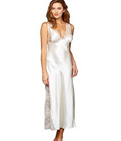 Julianna Rae Womens Allura 100 Silk Long Gown Meringue M *** Continue to the product at the image link-affiliate link. #SexyNightgown