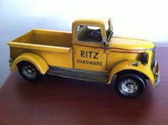 1940s Chevy Pickup Truck - Tin Metal Car Collectible Utilitarian Vehicle Toy…