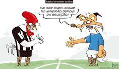 Charge do Dum (Zona do Agrião) sobre o bom jogo da Seleção Brasileira no Mineirão (13/11/2016) #Charge #Dum #Futebol #Brasil #Argentina #Mineirão #HojeEmDia