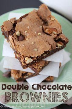 Leesh & Lu's Recipe Box: Double Chocolate Brownies {& a Sweet Deal!!!}