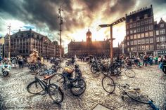 - Dam Square - Amsterdam by Bruce Noronha, via Amsterdam Holidays, I Amsterdam, Amsterdam Netherlands, Beautiful Places In The World, Most Beautiful Cities, Wonderful Places, Utrecht, Rotterdam, Dam Square