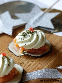Par faim d'arômes: Radis noir, saumon et chantilly au wasabi