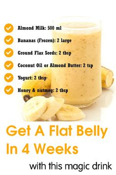 Get a flat belly in 4 weeks with this magic drink