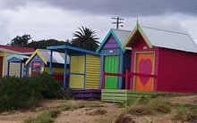 Bathing boxes along the shoreline Explore Dream Discover, Beach Huts, My Town, Melbourne Australia, Places Ive Been, Bathing, Shed, Boxes, Outdoor Structures