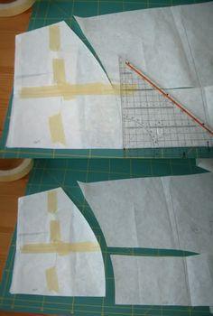 Adding maternity panel to skirt pattern
