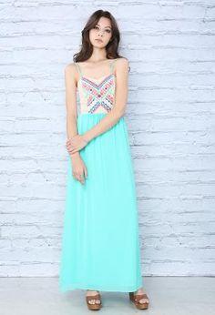 Embroidered Chiffon  Maxi Dress | Shop Dresses at Papaya Clothing