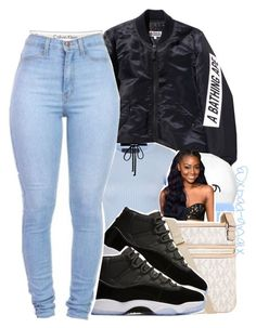 """""""{I've been looking for you baby, You need somebody wavy}"""" by xbad-gyalx ❤ liked on Polyvore featuring October's Very Own, Topshop, Michael Kors and Joomi Lim"""