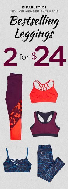 Discover casual, chic and affordable with Fabletics by Kate Hudson and find your favorite Fall Leggings now 2 for $24 when you become a VIP Member. As a VIP, you'll enjoy a new personalized styles each month, as well as exclusive pricing, early access to sales & free shipping on orders over $49. Don't think you'll need something new every month? No problem – click 'Skip The Month' in your account by the 5th. Take our 60 second quiz to unlock this special offer!