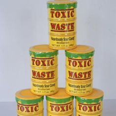 Toxic Waste (Box of Old Fashioned Candy, Sour Candy, Candy Shop, Coffee Cans, Gift Baskets, Catering, Party Favors, Nyc, Sugar