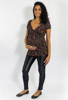0b8c5099b Blusa para amamentar e para gestante Melissa - estampado - Mamme moda  materna - moda gestante