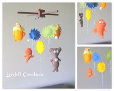 Baby crib mobile Baby Mobile Lorax Mobile by LoveFeltXoXo