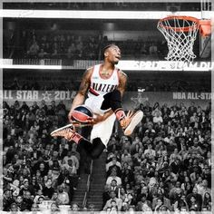 Damian Lillard; Favorite player for the Blazers! Get the best tips on how to increase your vertical jump here:
