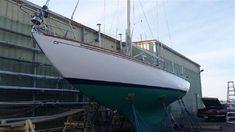 1955 HINCKLEY 41' Cutter | Florida Yachts International Bottom Paint, Boat Names, Classic Yachts, Florida, Rhode Island, Underwater, Sailing, Restoration, Around The Worlds