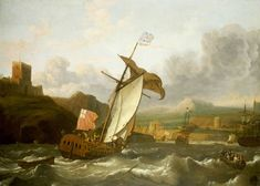 Ludolf Bakhuizen - An English Yacht Sailing into Plymouth