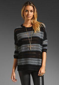 John & Jen by LINE Jagger Stripe Sweater in Flint at Revolve Clothing - Free Shipping!