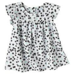 Circo® Infant Toddler Girls' Cap Sleeve Star Blouse