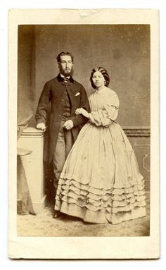 1860s Husband Wife possible wedding CDV Photo Carte de Visite Victorian Stroud Dress | eBay