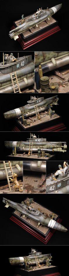 "German ""Seehund"" (Mini submarine type XXVII)"