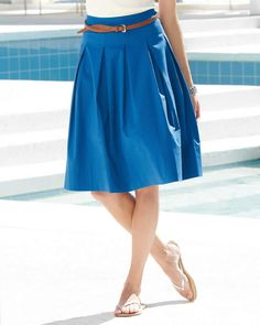 Blue skirt with pleats