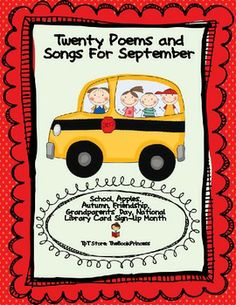 A freebie for you! A total of 20 poems/songs to use for September/Fall with your primary students. Perfect for your Poetry Binders to help build fluency, buddy/shared reading and word work! Enjoy!