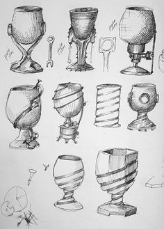 Cup Sketches by Truda Glatz, via Flickr